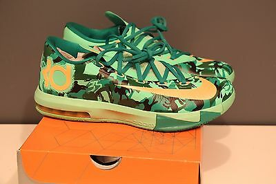 pretty nice 7890a 9f442 Nike KD VI 6 Easter Lucid Green Atomic Mango Camo SZ 9.5 BRAND NEW DEADSTOCK