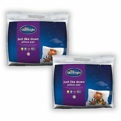 Silentnight Just Like Down Microfibre Pillow - 4 Pack