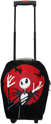 Nightmare before Christmas Trolley red Skull Jack nbc Skull Suitcase Pocket