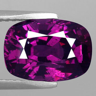 4.83 Ct Certified Remarkable Cushion Cut Natural Top Purple Rhodolite