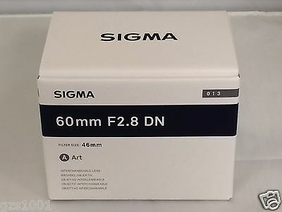 Brand new!! Sigma 60mm F2.8 DN Mirrorless Lens For Sony E-mount (Black) F/S