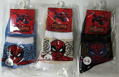 Brandnew Spiderman Socks Sox set of 3 pairs boys