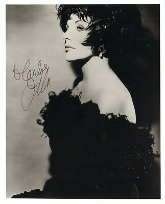 """JOAN COLLINS - Original 10"""" x 8"""" b/w Photograph PERSONALLY SIGNED TO 'CARLOS'"""