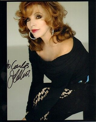 """JOAN COLLINS - Original 10"""" x 8"""" Colour Photograph PERSONALLY SIGNED TO 'CARLOS'"""
