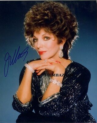 """JOAN COLLINS - DYNASTY 10"""" x 8"""" Colour Photo PERSONALLY SIGNED - UNDEDICATED"""