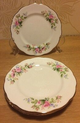 "Royal Albert - Moss Rose - Six X 6 1/4"" Tea / Side Plate - Hampton Shape (New)"