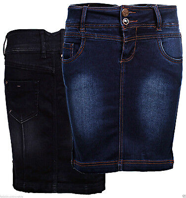 STITCH   SOUL DAMEN JEANS ROCK KNIEROCK BLEISTIFTROCK Pencil STRETCH ROCK aa4dd784f8