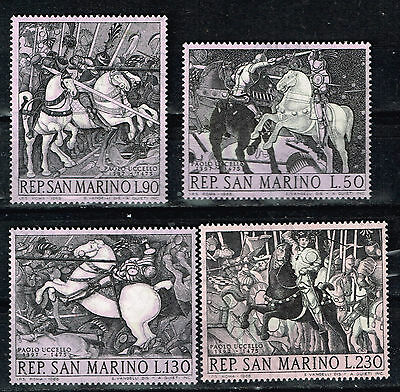 San Marino Arts Paolo Ucello Famous Paintings Knigths set 1968 MNH