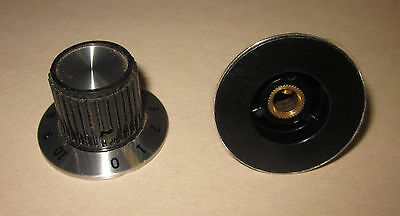 "Eagle Plastic Devices Dial Knob, 0-10 Scale, Metal skirt, 1/4"" Shaft 45KN021-GRX"