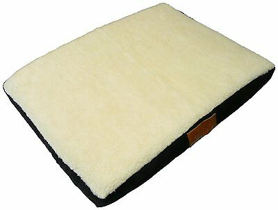 Ellie-Bo Memory Foam Orthopedic Dog Bed with Faux Suede and Sheepskin Topping fo
