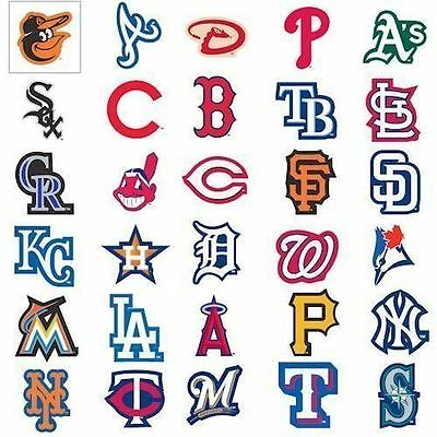 MLB Team Logo Decal Stickers Baseball Licensed Choose from all 30 Teams