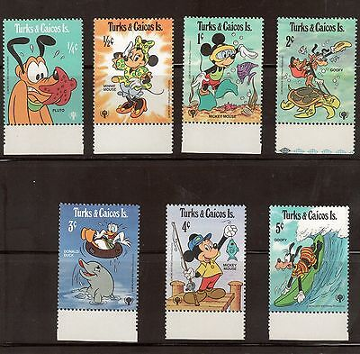 Turks & Caicos Islands 399 - 405 - Disney Characters.  MNH. OG   #02 TURKS399s