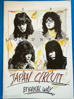 1984 LOUDNESS Japan Circuit Eternal Way Concert Program Pamphlet