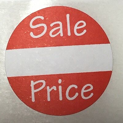 "500 Self-Adhesive Sale Price Round Retail Labels 1"" Sticker Tags"