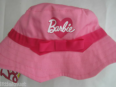 BARBIE Licensed Girl scallop bucket hat pink bow NEW 53cm 55cm