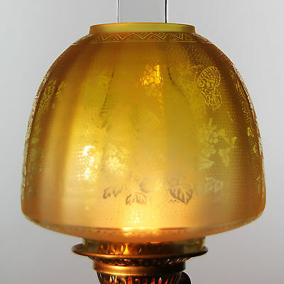 """OIL LAMP SHADE - Butterfly Beehive Shade lemon 4"""" Fit"""