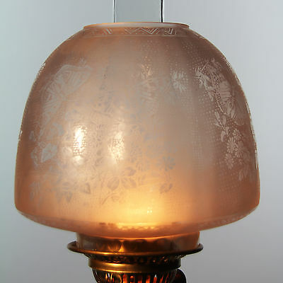 """OIL LAMP SHADE - Butterfly Beehive Shade Peach 4"""" Fit"""