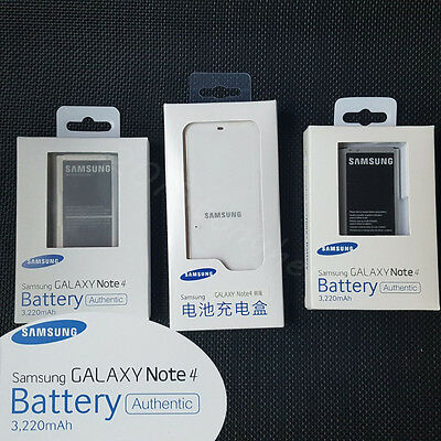 New Genuine 3220mAh Replacement Battery&Charger For Galaxy Samsung Note4 SM-N910