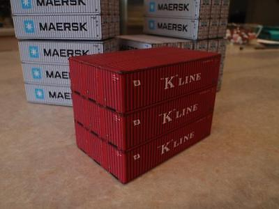 N scale 9 x 40 Foot - Shipping containers K Line Stack for Model Train Railway