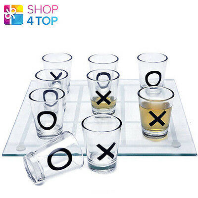 Tic Tac Toe Drinking Party Game With 9 Shot Glasses Glass Adult Novelty Gifts