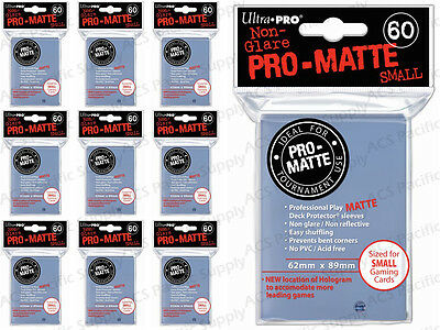 600 ULTRA PRO SMALL PRO-MATTE CLEAR DECK PROTECTORS SLEEVES Yugioh Matte Lot