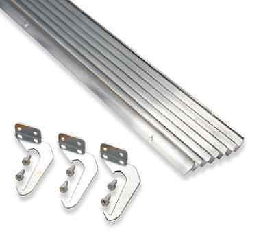 New 5 ft. Natural Aluminum Gutter with Brackets & Screws - Value Pack of 25 ft.