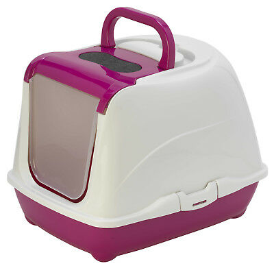 MAISON DE TOILETTE CHAT / BAC LITIERE POUR CHAT FLIP CAT CORAIL Ref. AS97390