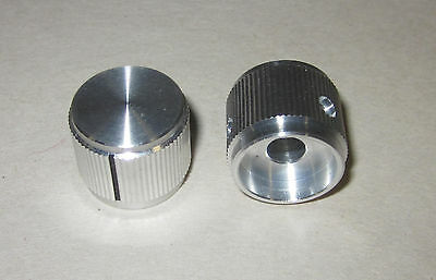 "Solid Aluminum Control Knob 3/4"" diameter x 5/8"" high Hi-Fi Volume Tone DIY, 6mm"