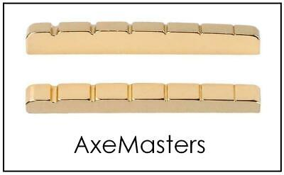 "USA MADE AxeMasters 42mm / 1.65"" BRASS NUT made for Fender Guitar Mexico MIM"