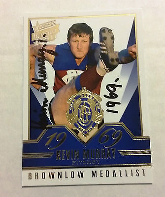 Fitzroy Lions - Kevin Murray Signed 2014 Select Honours Brownlow Gallery Card
