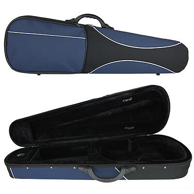 Kreisler Sport Lightweight Shaped Violin Case for 4/4 Full Size - Blue/Black