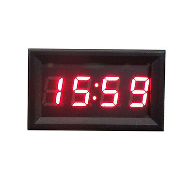 DC 12V 24V Car Motorcycle Clock Small red led Panel Meter LED Digital Clocks HOT