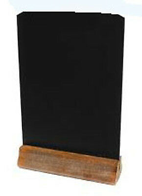 Free Standing A3 Size Tabletop Chalkboard Ideal For Counter Top Signs Indoors