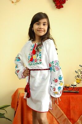 Ukrainian embroidered traditional shirt for ladies, blouse, vyshyvanka, dress