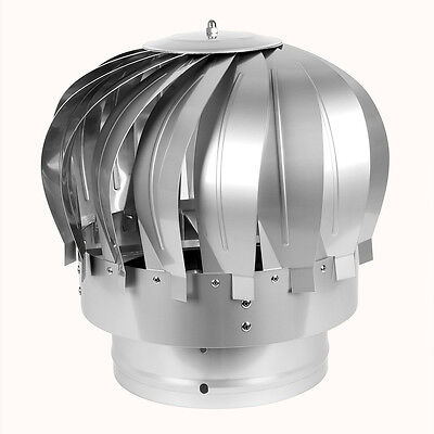 Robust StainlessSteel Rotating Spinning Roof Cowl MAD Spinner Chimney Flue Cowl