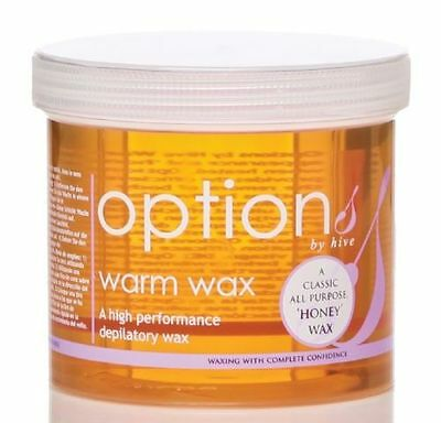 Hive of Beauty depilatory wax hair removal - Warm Honey - Tub 425g