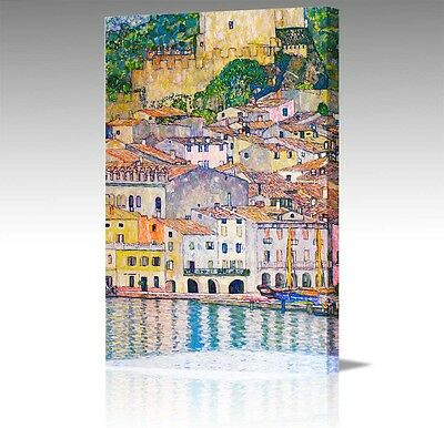 "30x20"" Gustav Klimt Malcena At Lake Garda Italy Large Canvas Art Picture Print"
