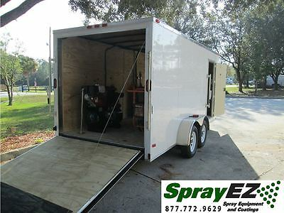 New Spray Foam Insulation Equipment 30 Lb Package  Trailer Rig  Graco  Fusion