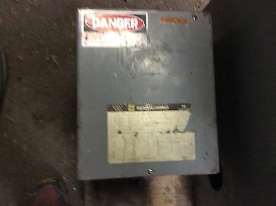 Square-D 10kva single phase isolated transformer, #10S1F, hv-240/480, lv-120/240