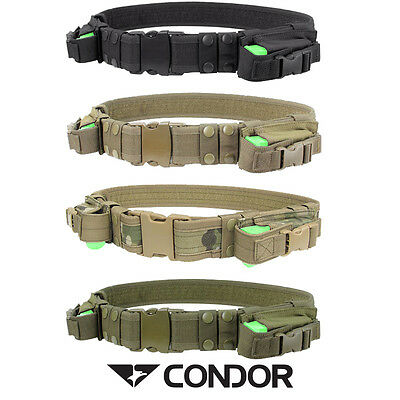 Condor Tactical Belt w/2 Airsoft Pistol Mag Carriers Free UK Delivery