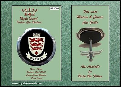 Royale Classic Car Grill Badge + Fittings - COUNTY of DORSET ENGLAND B2.1066