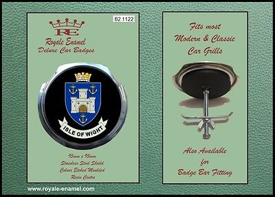 Royale Classic Car Grill Badge + Fittings - ISLE OF WIGHT ENGLAND B2.1122