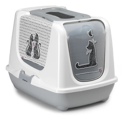 MAISON DE TOILETTE CHAT/BAC LITIERE POUR CHAT ''CAT'S IN LOVE'' Réf AS97394CL