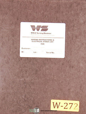 Warner & Swasey WSC8, Wiring Instructions and Schematics Manual 1987
