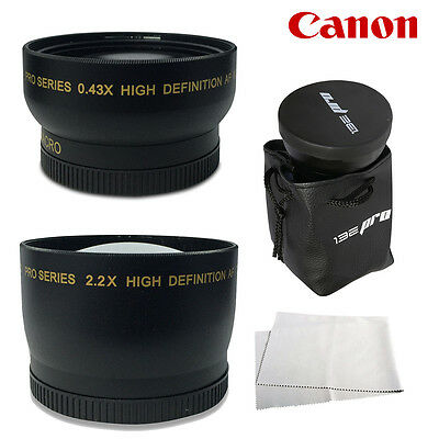 I3ePro 58MM Wide Angle & Telephoto for Canon Eos Rebel T3i T4i T5i T5 T6i T3 T2