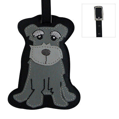 Schnauzer Dog Luggage Tag Briefcase Gym Backpack Travel ID