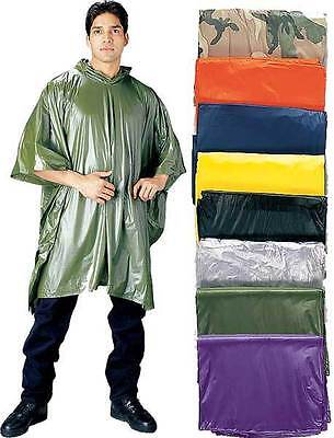 10 mil Vinyl Thick Emergency Boy Scout Camping Survival Reusable Rain Poncho
