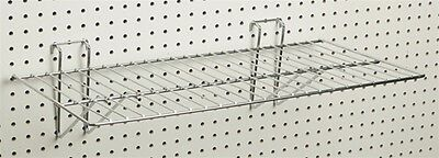 Slatwall Grid Wall Pegboard Wire Universal Panel Display Shelf Chrome Lot Of 12