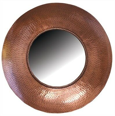 BRONZE HAMMERED METAL MIRROR WITH ANTIQUE By SPLIT P/LARGE WALL MIRROR