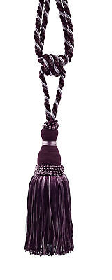 "Curtain Tassel Tieback, 8"" tassel, 30"" Spread - Plum, Light Purple"